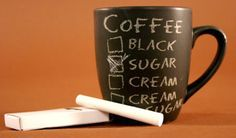 Chalkboard mug?  What a cool idea!