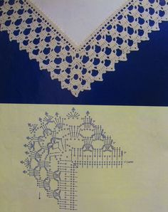 Breathtaking Crochet So You Can Comprehend Patterns Ideas. Stupefying Crochet So You Can Comprehend Patterns Ideas. Crochet Boarders, Crochet Edging Patterns, Crochet Lace Edging, Crochet Motifs, Crochet Diagram, Crochet Chart, Crochet Designs, Crochet Doilies, Knitting Patterns