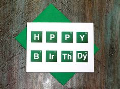 Birthday Card Breaking Bad Inspired Periodic Table Font Card on Etsy, $3.85