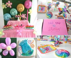 Trolls party decorations and ideas: