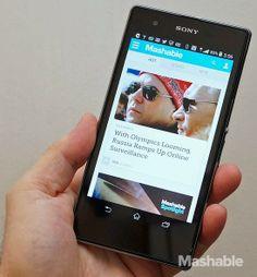 Sony's Xperia Z1S smartphone.