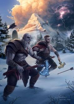 """God of War Fan Art – """"You're ready Boy!"""" Previous Next by Filipe Augusto Check this Top List Article: Best PC Games to Play in 2019 Previous Boyyyyy! – God of War Fan Art Next God of War Art Kratos God Of War, Good Of War, Game Character, Character Design, God Of War Game, Fantasy Warrior, Norse Mythology, Video Game Art, Fantasy Characters"""
