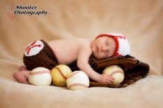 Baseball Hat and Diaper Cover Crochet Set Photography Photo Prop Made to Order All Sizes (Newborn - 12 Months). $40.00, via Etsy.