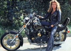 1978~ David Lee Roth on a 1978 Harley-Davidson XL-1000 Sportster that was designed for Harley's 75th anniversary