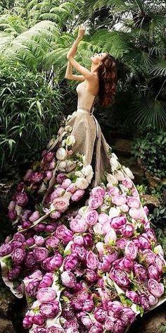 36 Floral Wedding Dresses That Are Incredibly Pretty ❤ floral wedding dresses with 3d floral colored malyarova olga #weddingforward #wedding #bride Mermaid Dresses, Flower Dresses, Pretty Dresses, Beautiful Dresses, Beautiful Women, Different Wedding Dresses, White Wedding Dresses, Floral Wedding, Boho Wedding
