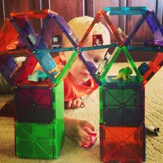 Ideas for building with Magna-Tiles! Challenge Magna-Tects to copy the Magna-Tiles Creation or use the pictures as inspiration to design your own!