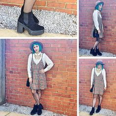 Blogger ashtonleigh_xx (Instagram) styling our platform boots in a fab outfit idea #ShoeZone #style #boots