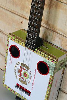 Cigar box 3-string guitar