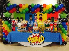 Superman Party, Superman Birthday, Superhero Birthday Party, 4th Birthday Parties, Avengers Birthday Parties, Baby Avengers, Ideas, Candy Party, Parties Decorations