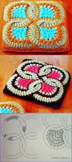 Вязание коврика по японским технологиям | Уют и тепло моего дома