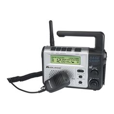 Midland XT511 Base Camp Two Way / Emergency Crank Radio Ham Radio, Emergency Radio, Emergency Preparedness, Emergency Planning, Noaa Weather Radio, Keypad Lock, Weather Alerts, Tecnologia