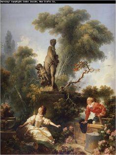 Il progresso dell'amore (1/4), 1771-1773, olio su tela, Pavillion de Musique, Louveciennes
