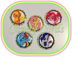 Hasbro My Little Pony MLP Bronies Epoxy Domes Dots 25mm Round 1 Inch