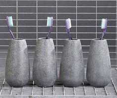 Soapstone tandkrus i fedtstenslook, designet af Mette Ditmer Soapstone, Toothbrush Holder, Kobe, Design, Velvet, Cuba