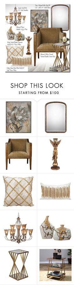 """""""Untitled #4088"""" by beebeely-look ❤ liked on Polyvore featuring Kathy Ireland, homedecor and lampsplus"""