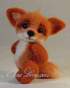 needle felting tutorial = fox