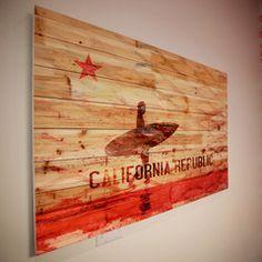 California Republic Wood Art