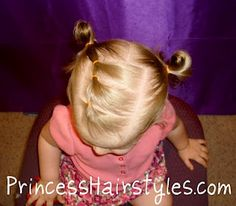 this blog has links to a few cute toddler and little girl hair sites that she found on pinterest. now if only sweet p will sit still for more than a bambam ponytail!