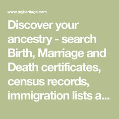 Discover your ancestry - search Birth, Marriage and Death certificates, census records, immigration lists and other records - all in one family search! Public Records, Carl Friedrich, Voters List, Marriage Records, Family Research, Family Genealogy, Free Genealogy