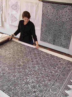 Piper Shepard, graphite coated muslin hand-cut
