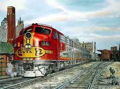 santa fe trains