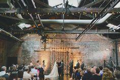 Industrial/urban location made warm, romantic & soft. Love. - Atlanta Arts Center Wedding