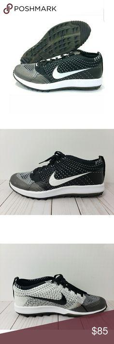 6aabbaffc328 Nike Flyknit Racer G Golf Shoes Nike Flyknit Racer G Golf Shoes Flywire  Phylon Oreo Black