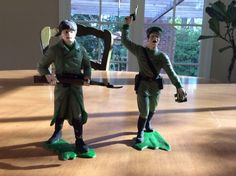 1963 Marx Toys Russian Officer Soldier Painted Set of 2 | eBay