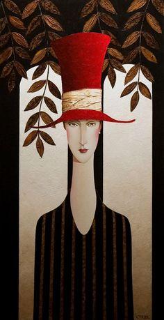 Danny McBride, artist, original acrylic paintings at White Rock Gallery Art Et Illustration, Illustrations, Danny Mcbride, Art Visage, Arte Pop, Red Hats, Face Art, Painting & Drawing, Amazing Art