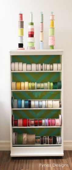 VHS stand turned Ribbon Storage Rack