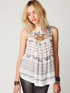 New Romantics Ikat Print Tunic at Free People Clothing Boutique