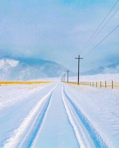 Country road in winter (Cameron, Montana). Scenery Photography, Winter Photography, Landscape Photography, Big Sky Country, Country Roads, Winter Love, Winter Scenery, Snowy Day, Snow Scenes