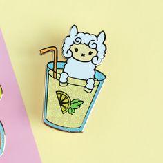 'Llamonade' Pin by Sour Attitude Club Jacket Pins, Pins And Needles, Cool Pins, Pin And Patches, Kawaii, Mellow Yellow, Pin Badges, Lapel Pins, Pin Collection