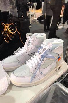 """Off White Jordan 1 from """"The Ten"""" Part Jordan Shoes Girls, Girls Shoes, Cute Sneakers, Shoes Sneakers, Jordans Sneakers, Air Jordans, High Top Sneakers, Sneakers Fashion, Fashion Shoes"""