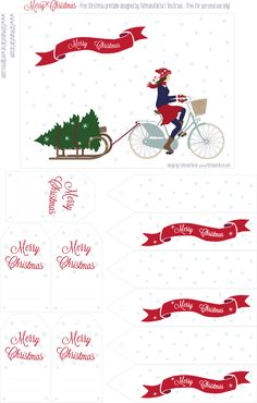 FREE printable Christmas gift tags | by faltmanufaktur