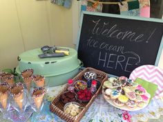 A Girly Ice Cream Party: vintage style summer fun!