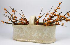 Ann Lindell Ceramics -- White Basket