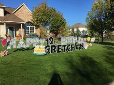 Happy Birthday Yard Signs Minnesota Birthdays Anniversary