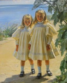 Peder Severin Krøyer - Danish painter, 1851-1909: The Benzon daughters