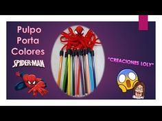 🐙Pulpo Porta Colores- lápices 🕸Hombre Araña 🕷Spiderman 🕸 - YouTube Spiderman, Arts And Crafts, Youtube, Videos, Crochet Octopus, Sewing Ideas, Craft, Paper, Recipes