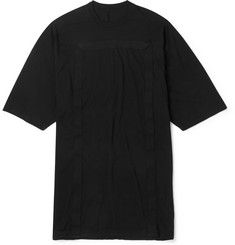 Rick OwensOversized Canvas-Trimmed Cotton-Jersey T-Shirt