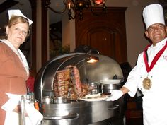 "LAWRYS THE PRIME RIB (Chicago) Table side carving and the famous ""spinning salad"". An experience not to be missed!"