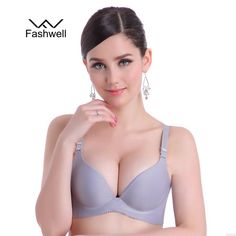 e80bf9c6ab New Fashion Lady Solid Bras Women Push Up Bra Deep V Sexy Brassiere  Underwear Seamless Wire