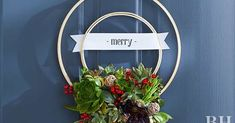Turn Embroidery Hoops into a Stunning Succulent Seasonal Wreath Holiday Crafts, Christmas Wreaths, Christmas Crafts, Christmas Decorations, Faux Succulents, How To Make Wreaths, Christmas Traditions, Wedding Decorations, Merry