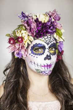 Get this Dia de los Muertos Look with a Step-by-Step Makeup Guide from Target…