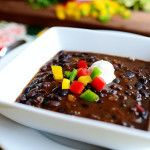 Black Bean Soup | The Pioneer Woman Cooks | Ree Drummond--DO add the dollop of sour cream at the end. Deeee-vine!