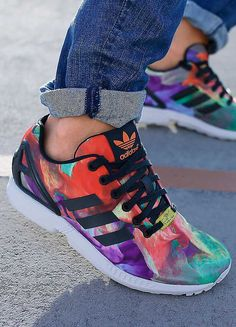 Products by my sponsor! I LOVE tie-dye! adidas Originals Multi 'ZX Flux W' Trainers #3stripelife @adidas