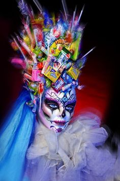 Dia de los muertos candy head decoration