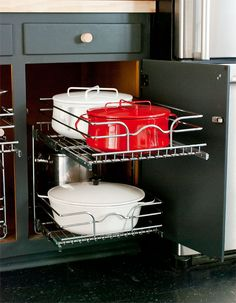 Revisiting the Big Kitchen Overhaul: Phase 1.5 (NOTE: Lowe's Rev-A-Shelf cabinet organizer for kitchen pots, etc.)