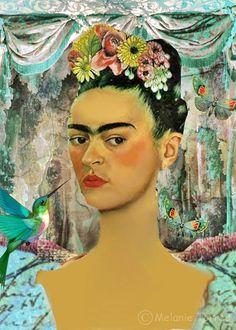 ''Pinto a mim mesmo porque sou sozinha e porque sou o assunto que conheço melhor.'' Frida Kahlo